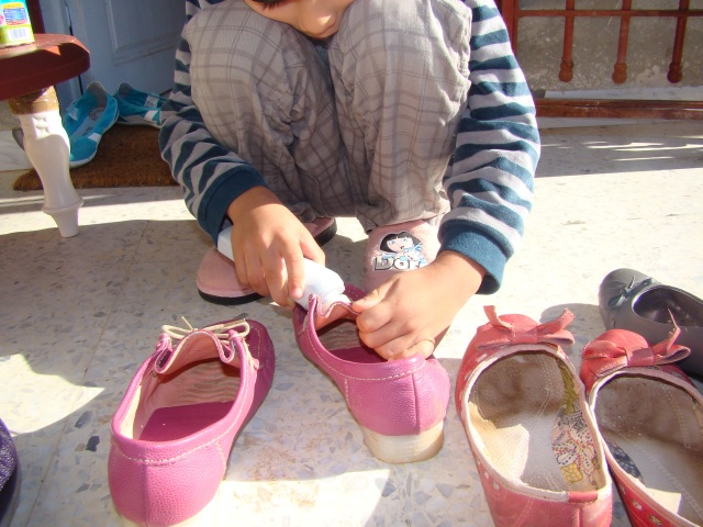 Nettoyage des chaussures