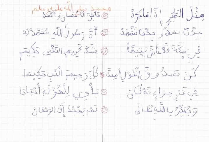 chant nachid Muhammad RasulAllah